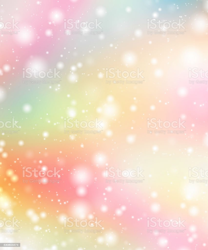 Rainbow multi colors tender sparkling abstract bokeh background. stock photo