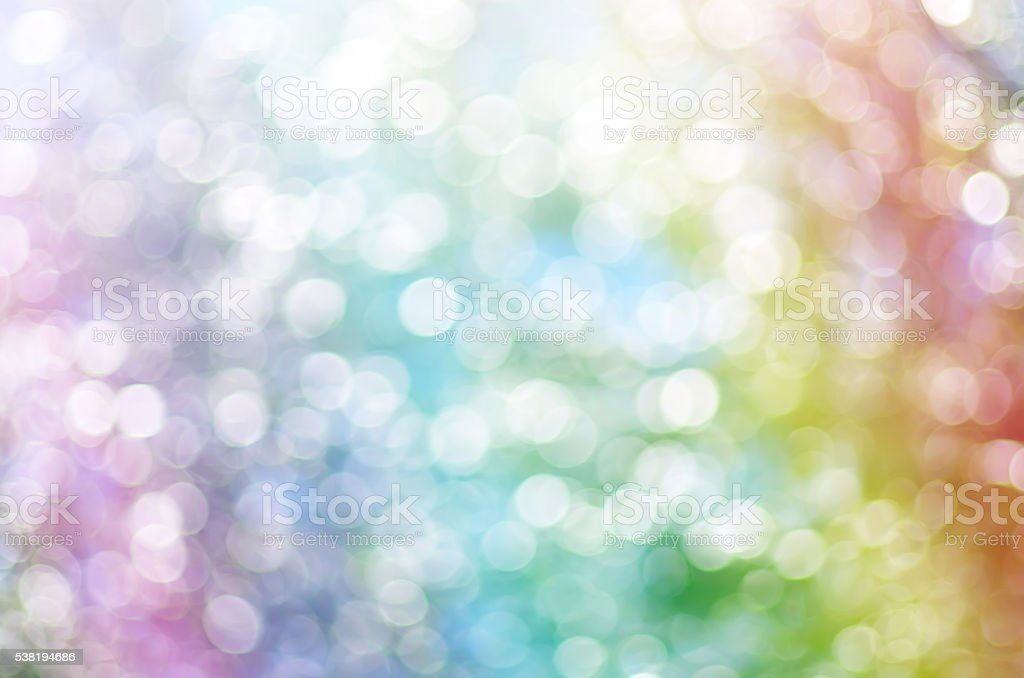 Rainbow multicolor bokeh stock photo