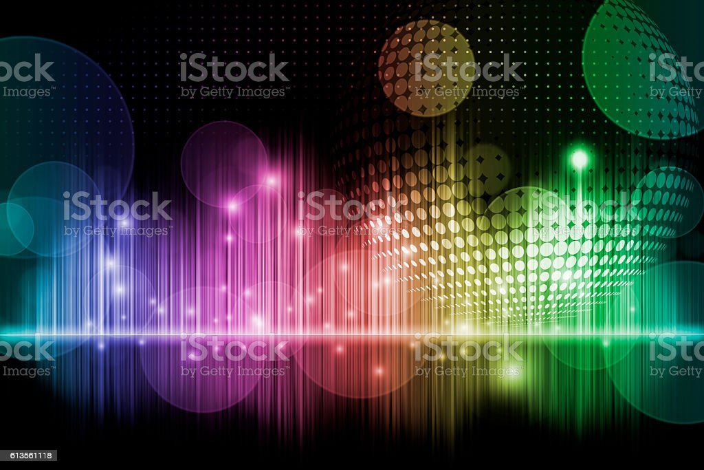 Rainbow music background stock photo