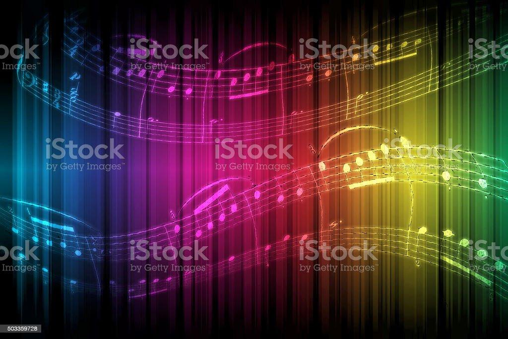 Rainbow Music stock photo