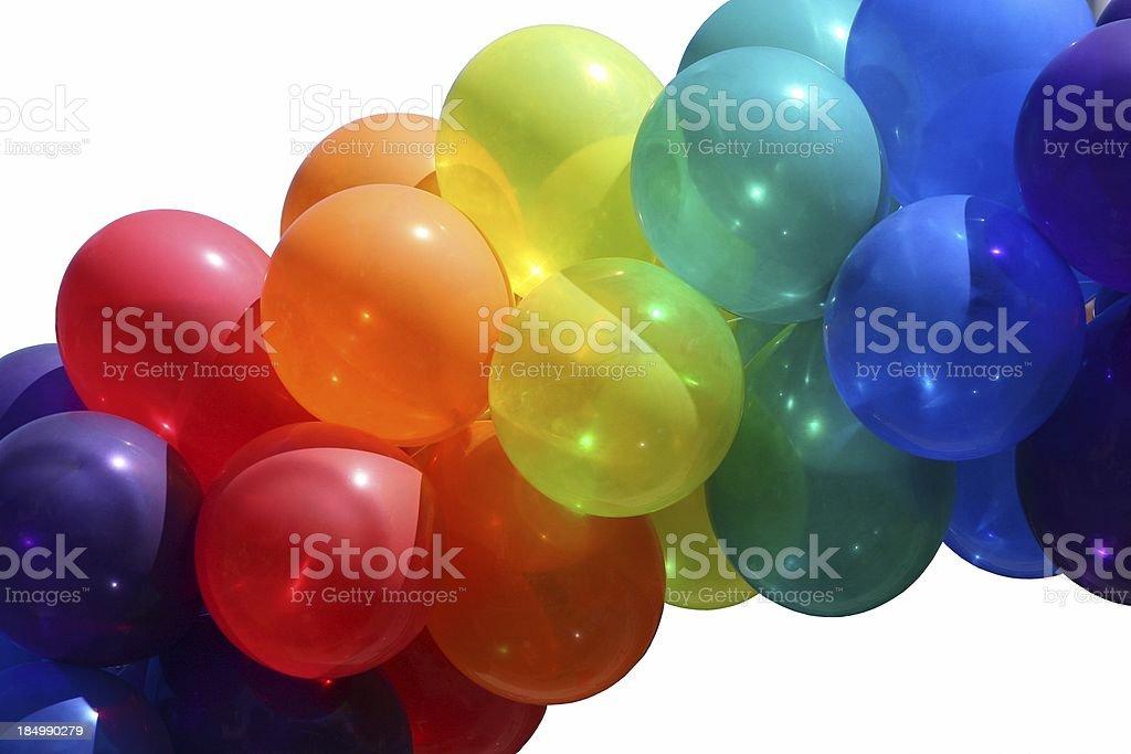 Rainbow Of Balloons stock photo