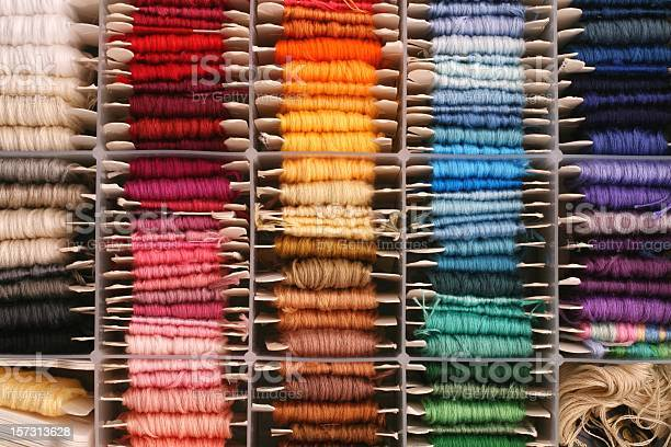 Rainbow Of Embroidery Thread Stock Photo - Download Image Now