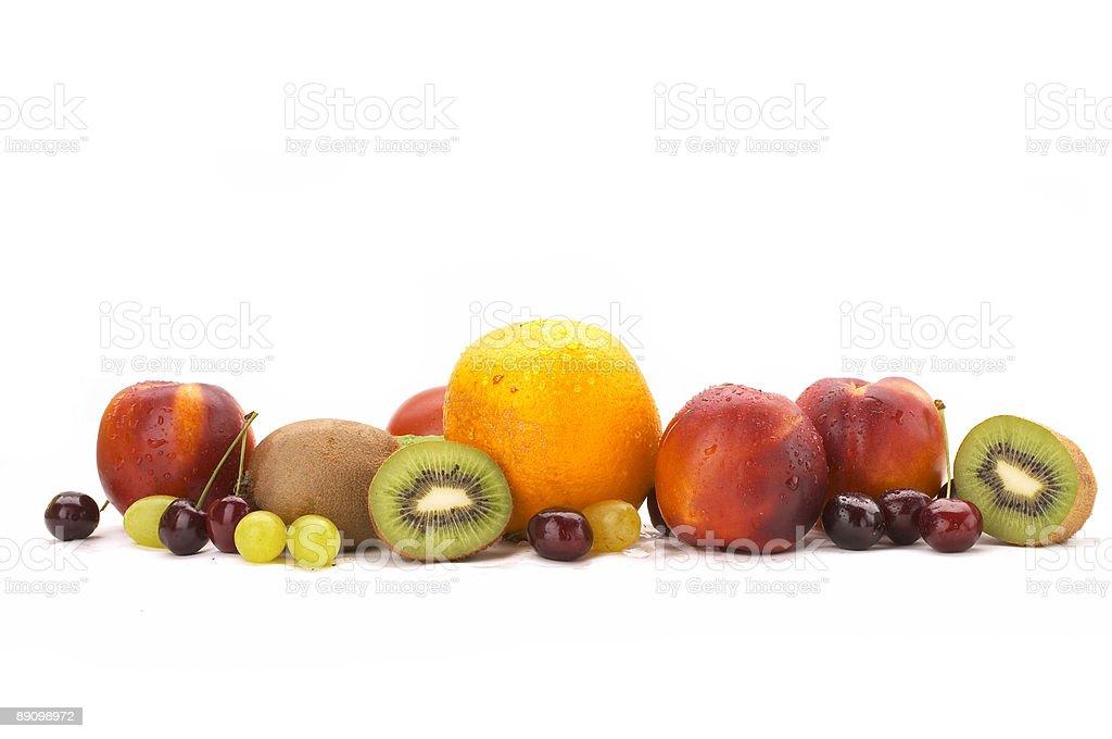 Rainbow of fruit royalty-free stock photo