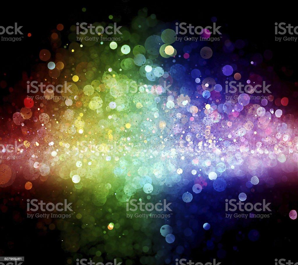 Rainbow of lights stock photo
