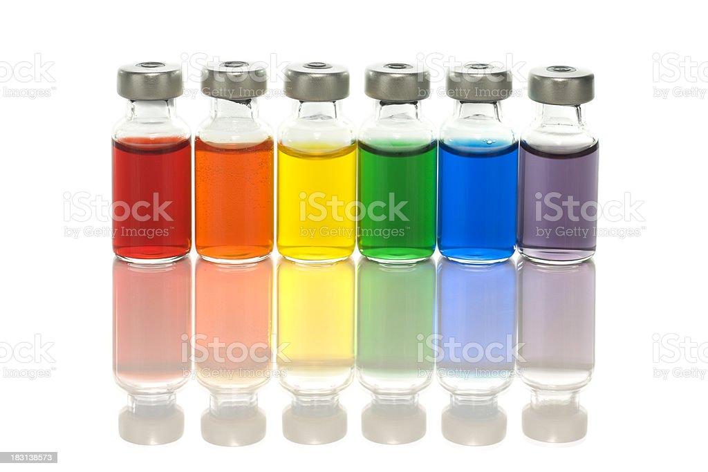 Rainbow of medicine royalty-free stock photo