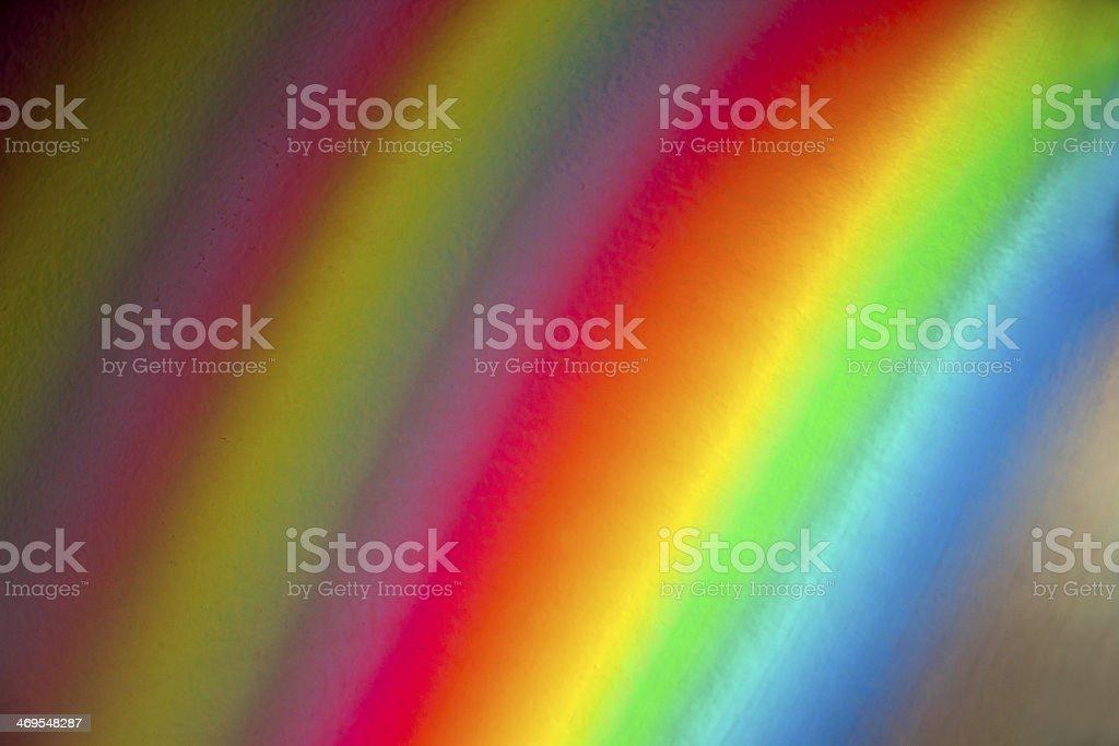 Rainbow on the wall royalty-free stock photo