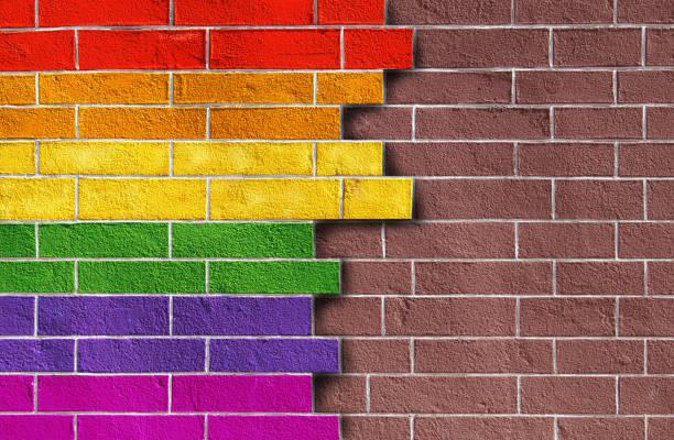 Rainbow on wall – zdjęcie