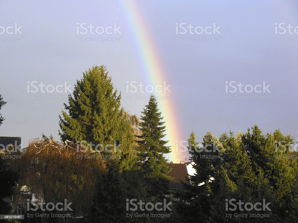 Rainbow over Cologne royalty-free stock photo