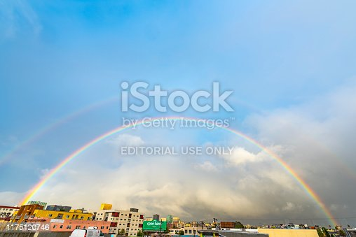458464131istockphoto Rainbow over korea Town in Los Angeles California USA 1175120746