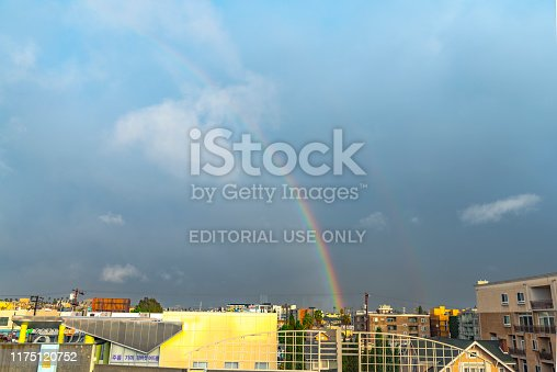 458464131istockphoto Rainbow over korea Town in Los Angeles California USA 1175120752