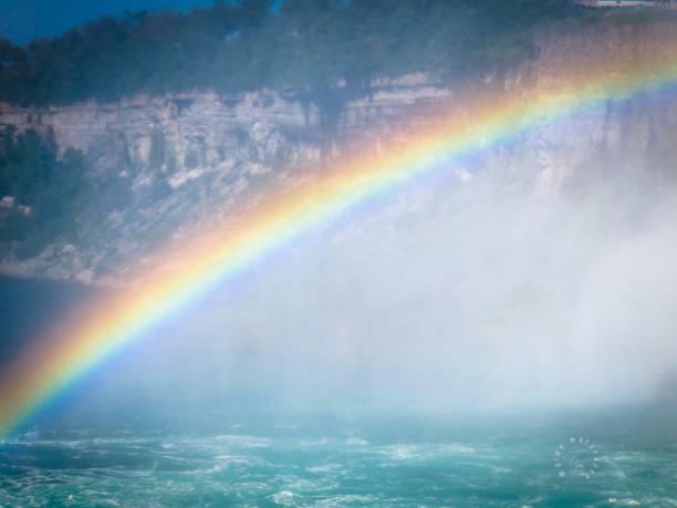 Rainbow Over Niagara stock photo