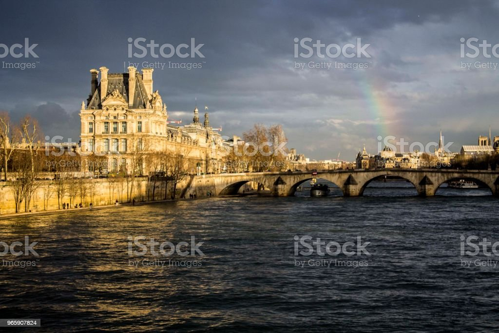 Rainbow over Paris - Royalty-free Above Stock Photo