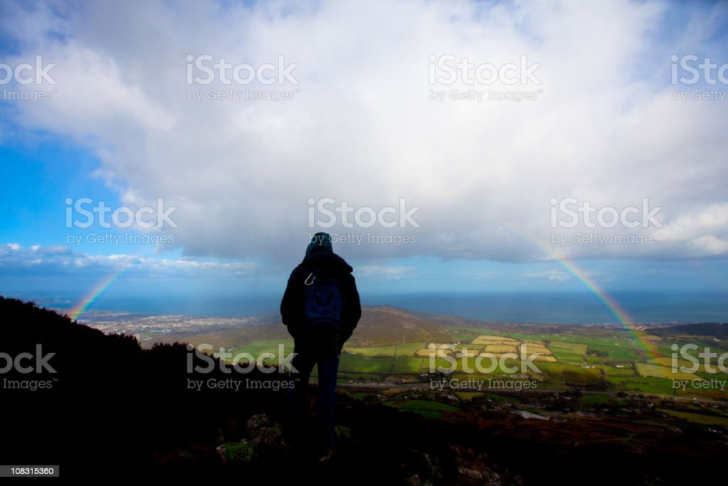 Rainbow over the Irish Countryside royalty-free stock photo