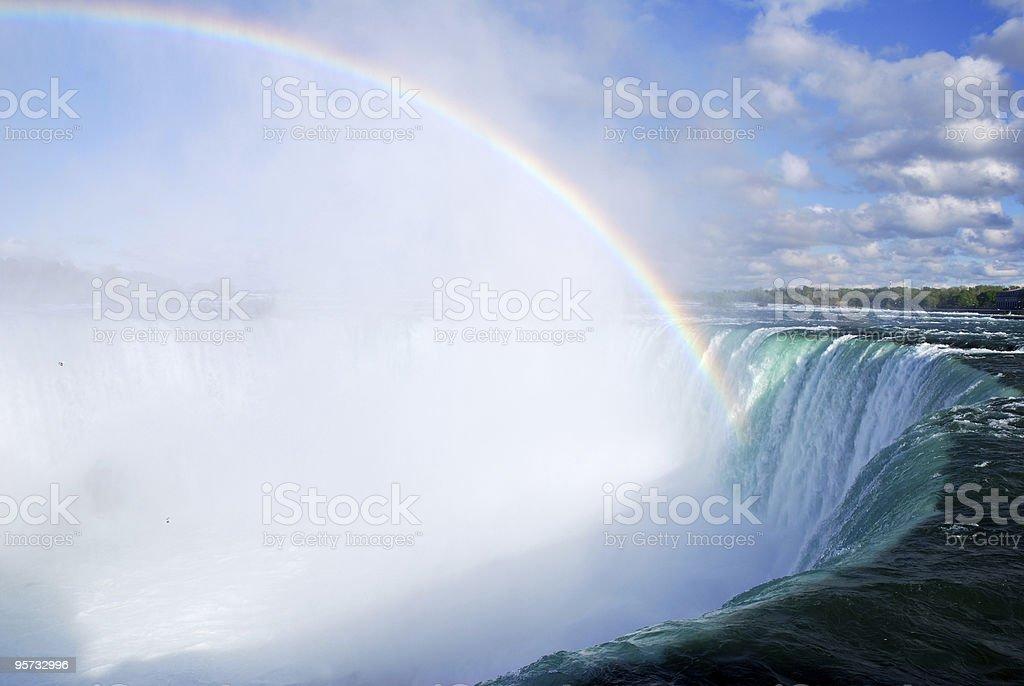 Rainbow over the Niagara Falls royalty-free stock photo