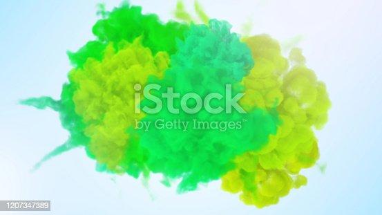 1131535585 istock photo Rainbow paint splash 1207347389