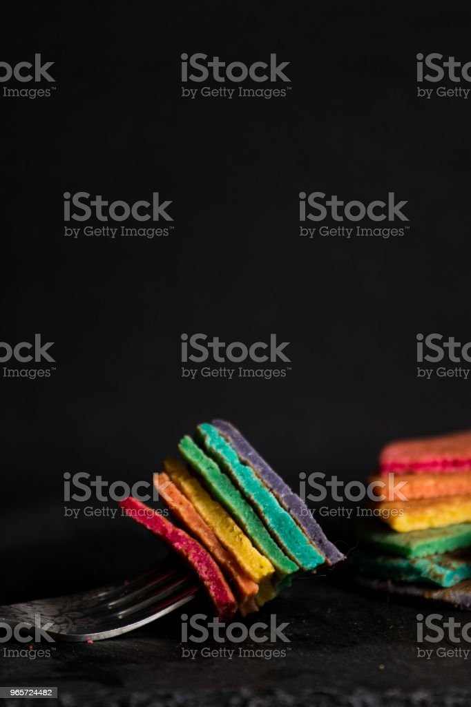 Rainbow pancakes - Royalty-free Baked Stock Photo