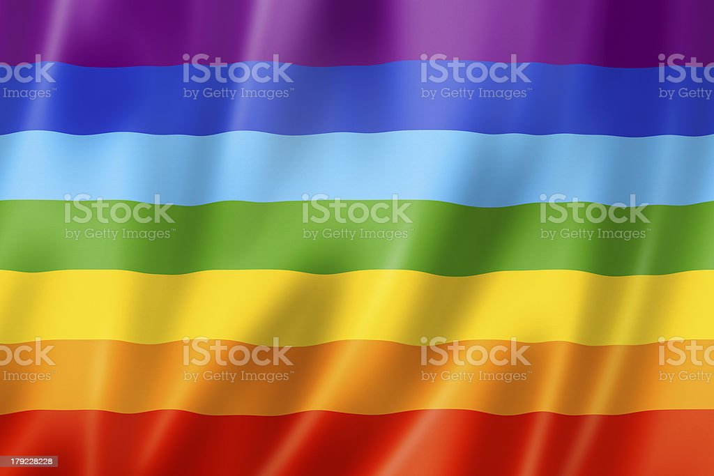 Rainbow peace flag stock photo