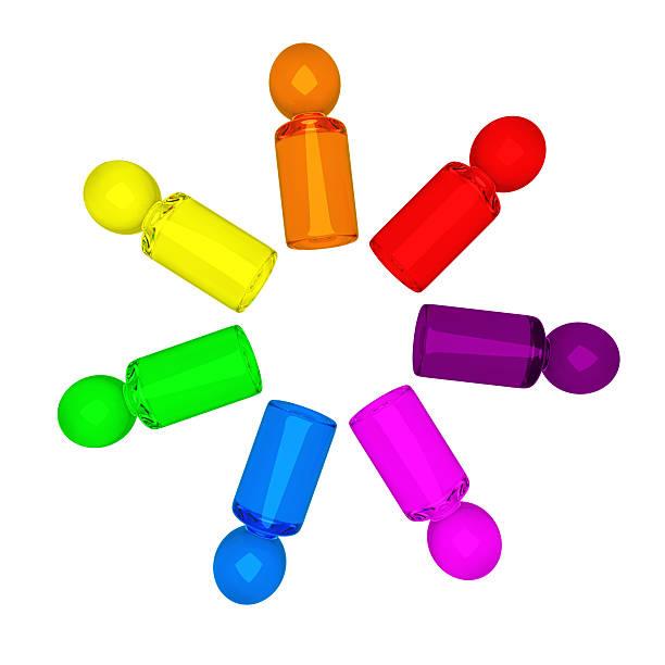 rainbow personas - foto de stock