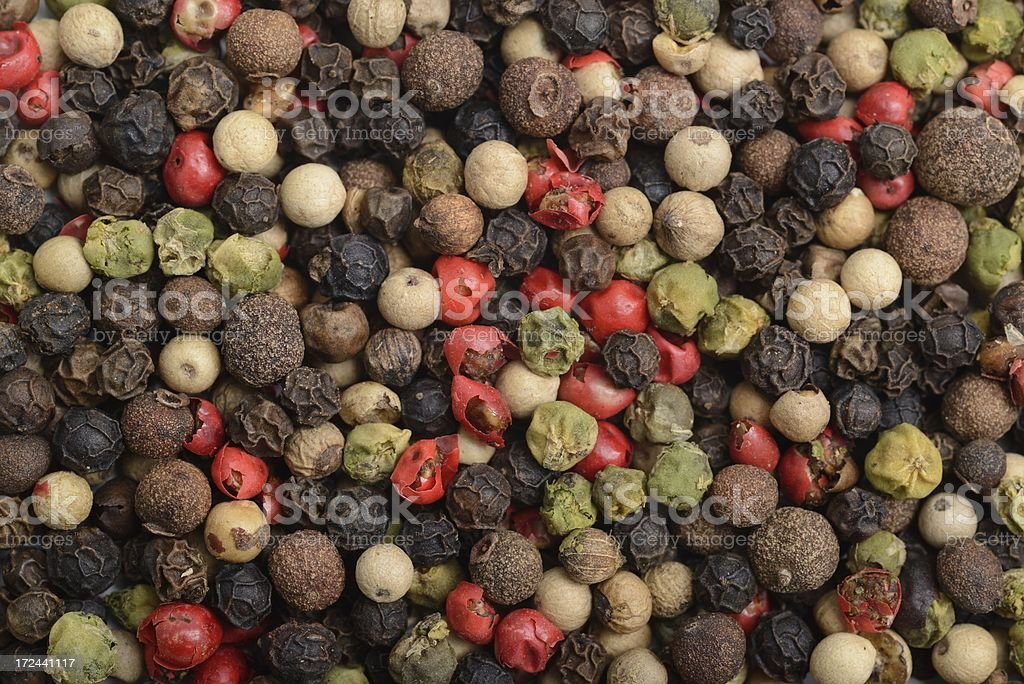 Rainbow peppercorn background royalty-free stock photo