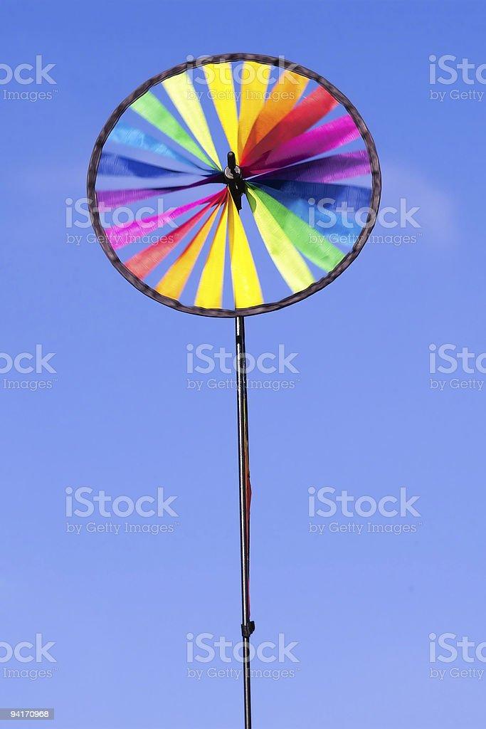 Rainbow Pinwheel II royalty-free stock photo