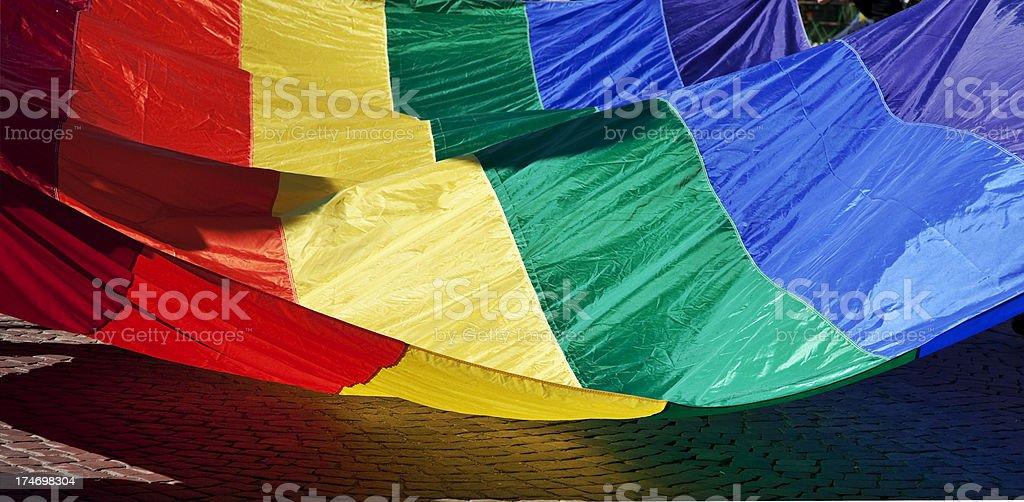 Rainbow Pride Flag royalty-free stock photo