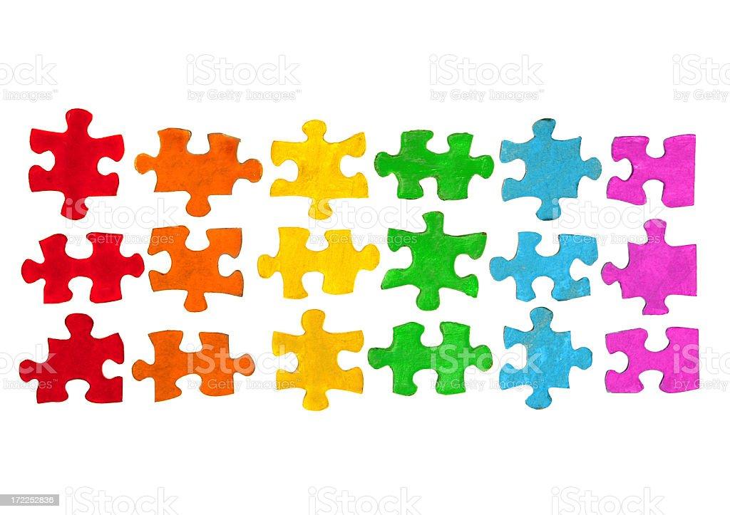 Rainbow Puzzle Pieces royalty-free stock photo