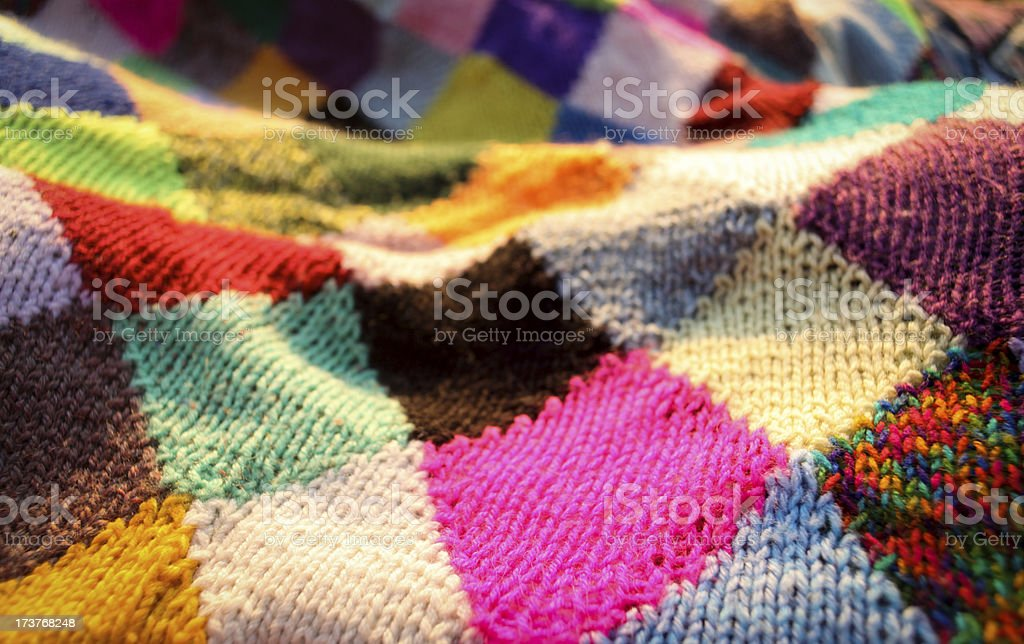 Rainbow Quilt stock photo