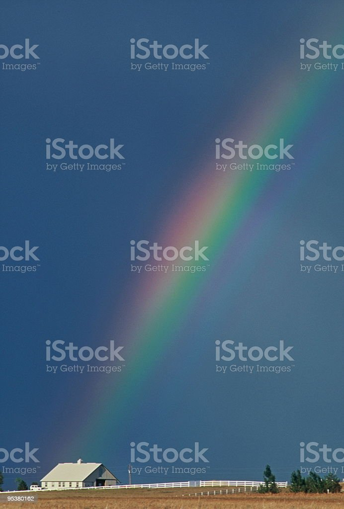 Rainbow ranch royalty-free stock photo