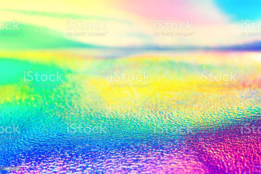 Rainbow Real Holographic Foil Neon Texture Wallpaper Royalty Free Stock Photo