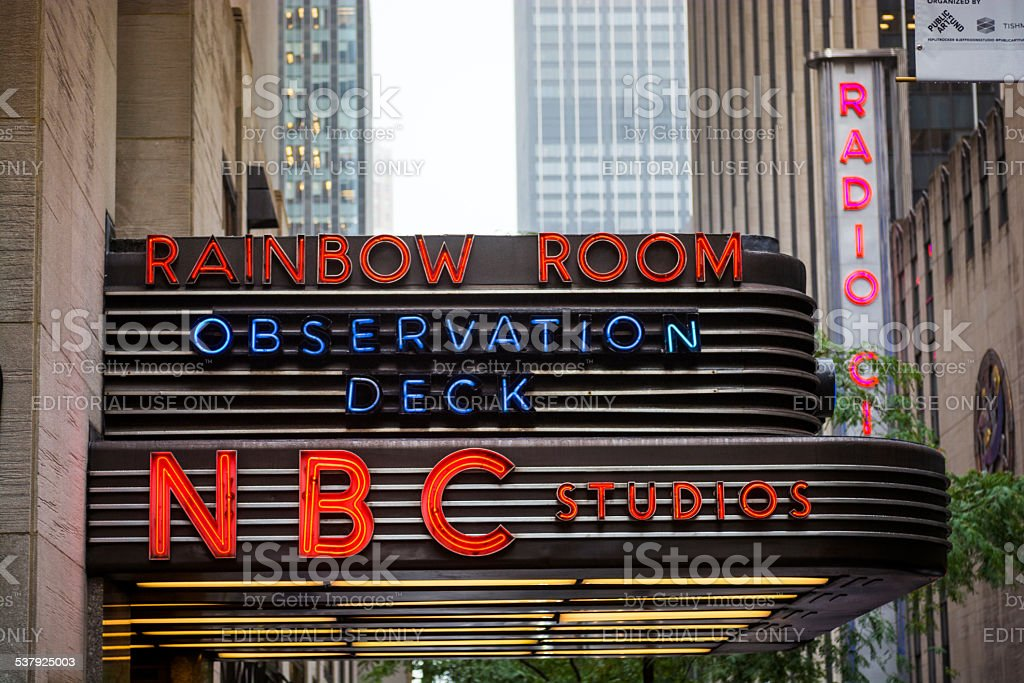 Rainbow Room And Nbc Studios Sign At Rockefeller Center Stock Photo Download Image Now Istock