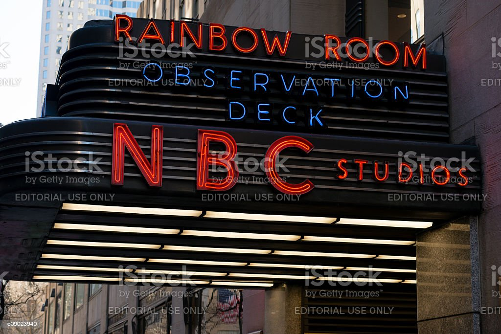 Rainbow Room stock photo