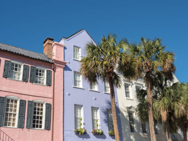 Rainbow Row, Charleston, South Carolina  – Foto