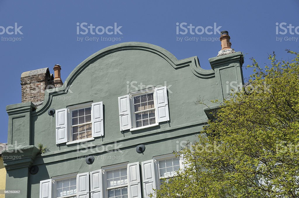 Rainbow Row, Charleston, South Carolina royalty-free stock photo