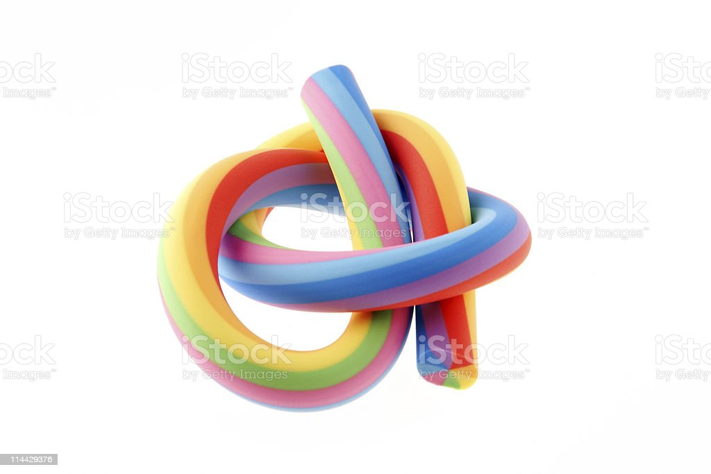 Rainbow rubber eraser royalty-free stock photo
