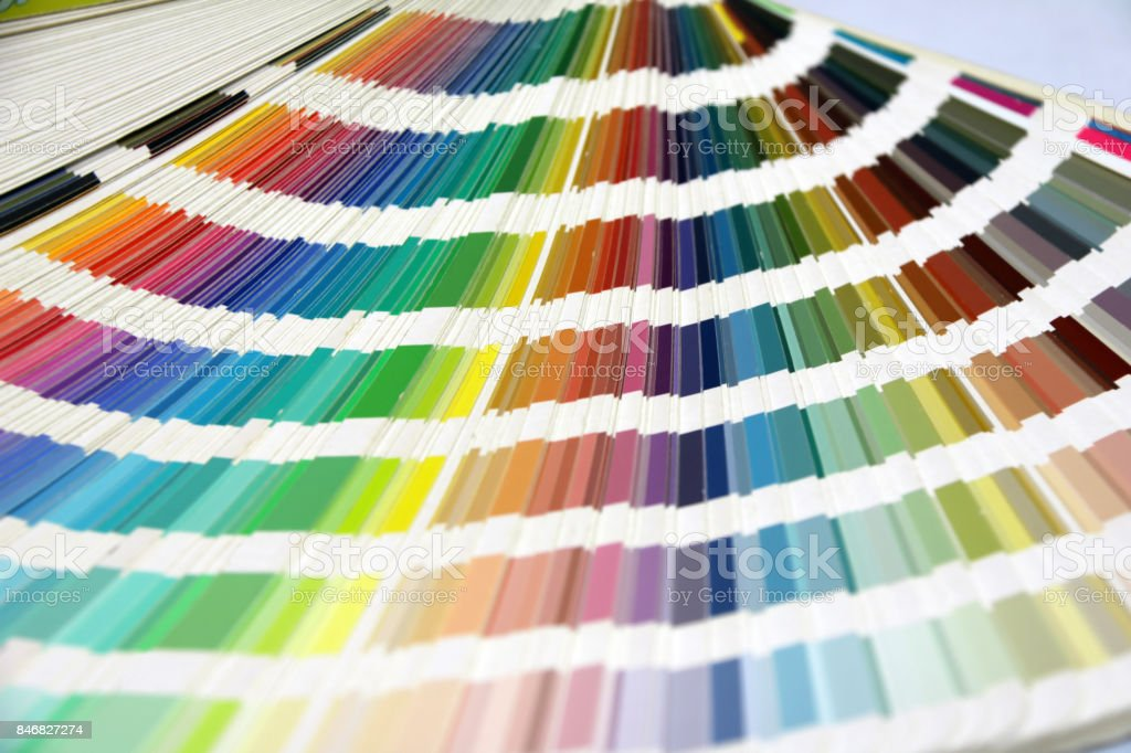 Rainbow Sample Colors Palette Catalog. stock photo