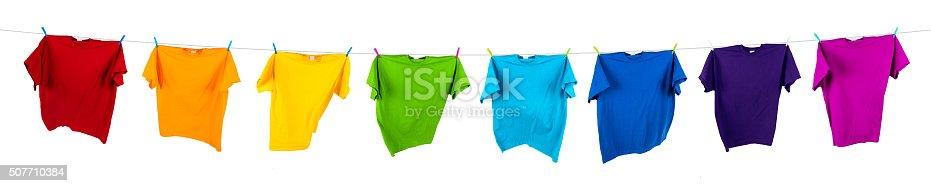 istock rainbow shirts on line 507710384