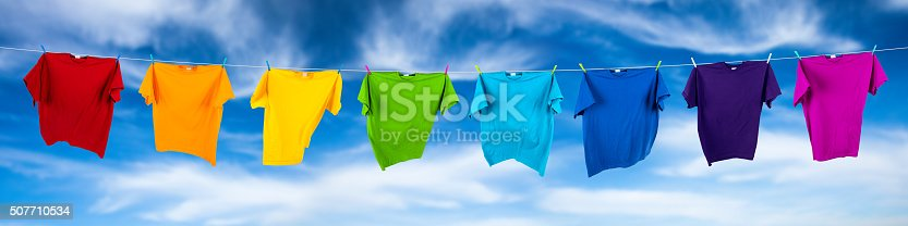 istock rainbow shirts on line 507710534