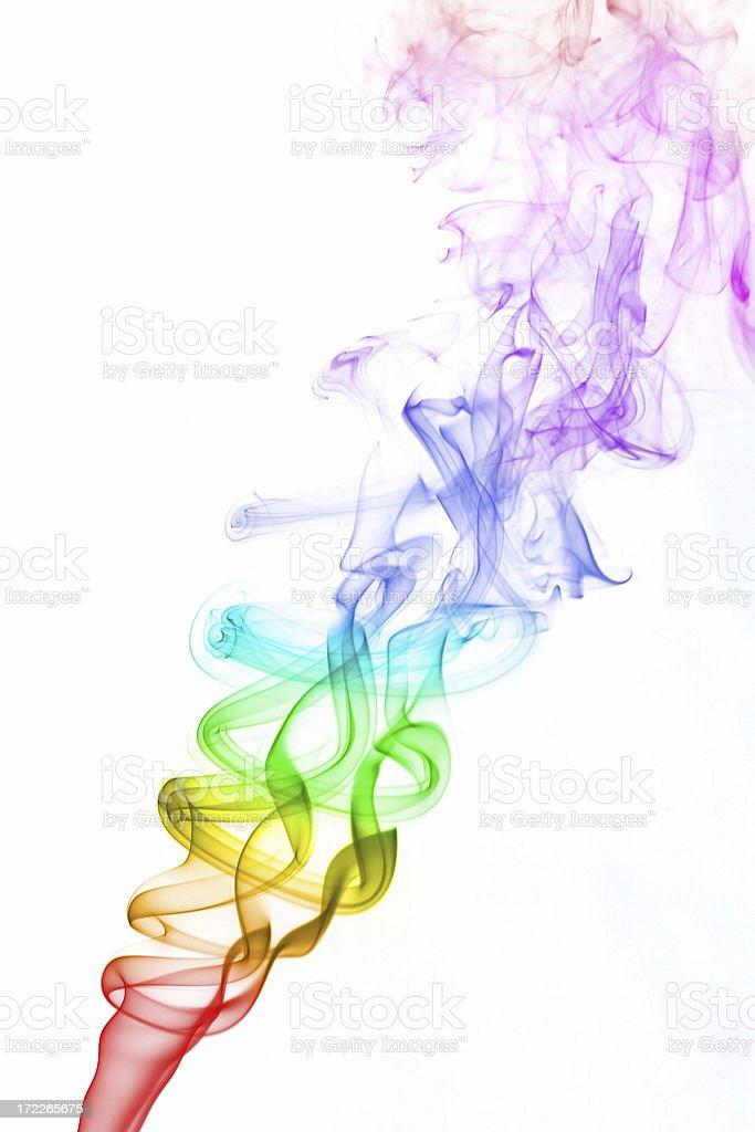 Rainbow smoke in the sky royalty-free stock photo