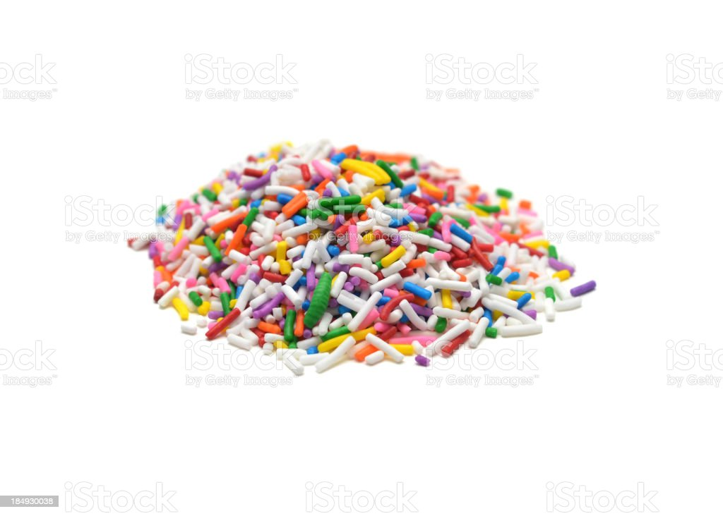 Rainbow Sprinkles stock photo