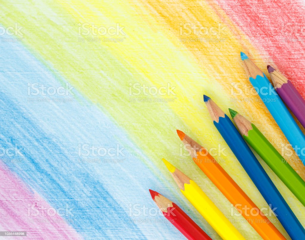 rainbow stroke pencil drawing sketch abstract art.