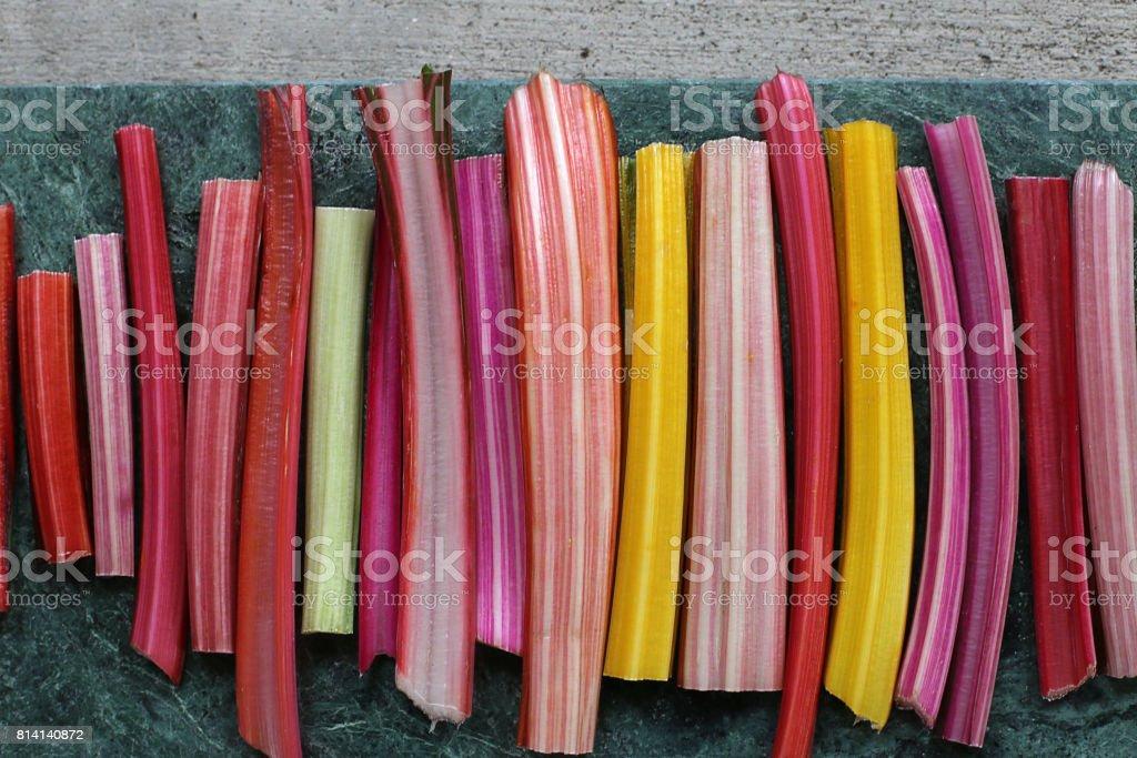 Rainbow Swiss Chard stock photo