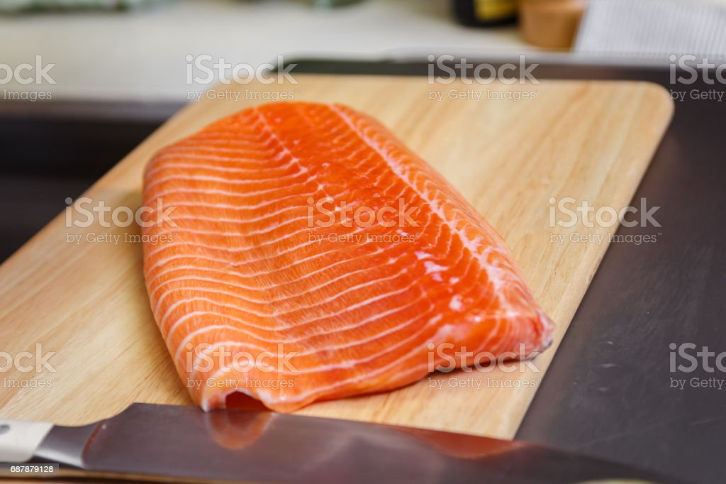 Rainbow Trout fillet stock photo