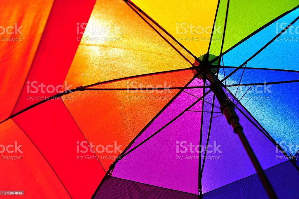 Rainbow Umbrella with sun shining through