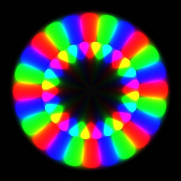 Rainbow waves generated texture stock photo