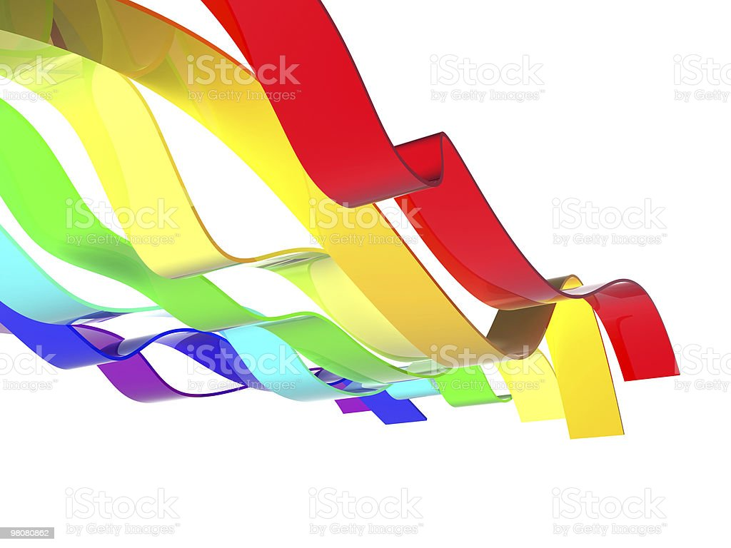 Rainbow waves royalty-free stock photo