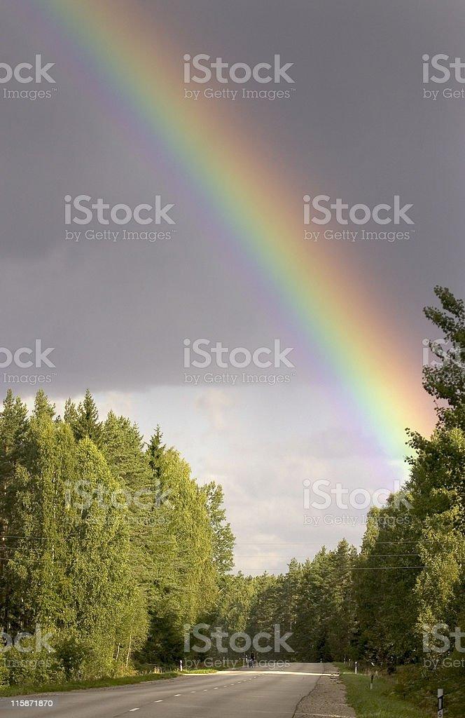 Rainbow way royalty-free stock photo