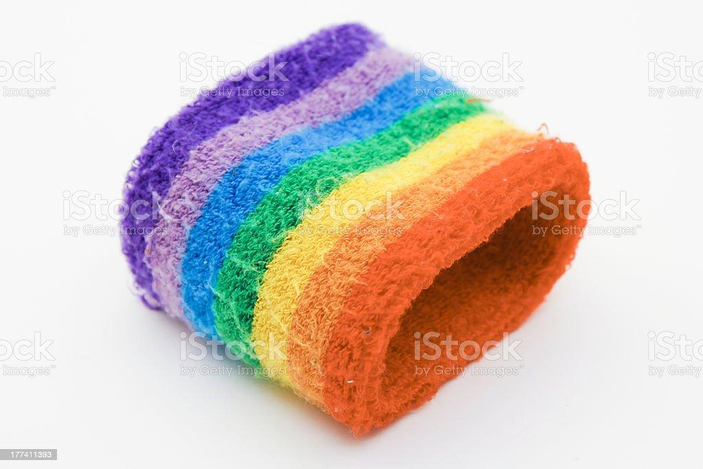 Rainbow Wrist Band stock photo