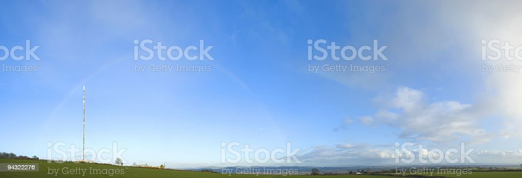 Rainbows and radios royalty-free stock photo