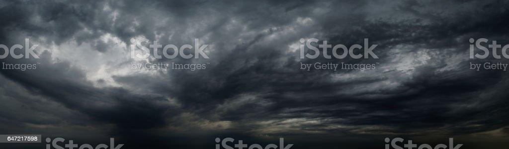 raincloud panorama background stock photo