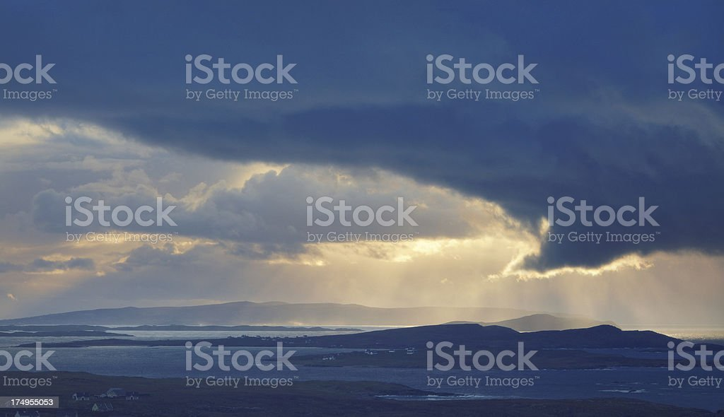 rainclouds and sunshine royalty-free stock photo
